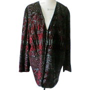 Oleg Cassini Black Tie Beaded Jacket