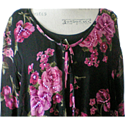 Black & Fuchsia Floral Dress with Sequin Jacket