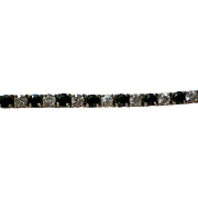 Sterling Silver CZ Black and White Bracelet