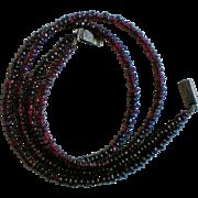 Natural Deep Red Pomegranate Garnet Gemstone Bead Necklace