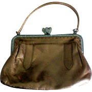 Bravo Evening Handbag in Gold Leather