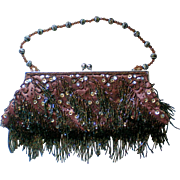 Razzle Dazzle Sequin and Dangle Beaded Purse