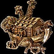 Avon Noah's Ark Gold tone Pin