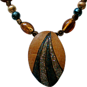 Southwestern Painted Gourd Pendant Necklace