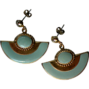 Egyptian Revival Pierced Dangle Earrings