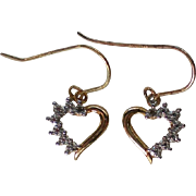 Petite Heart Sterling Vermeil Pierced Earrings