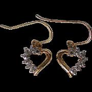 Petite Heart Sterling Vermeil Pierced Earrings