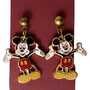 Mickey Mouse Pierced Earrings