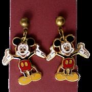 Mickey Mouse Pierced Earrings