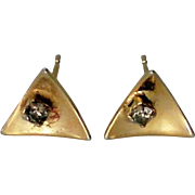 Petite Gold tone Pierced Earrings