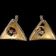Petite Gold tone Pierced Earrings