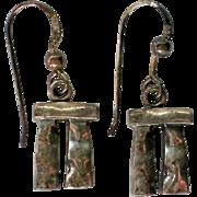 Sterling Silver Stonehenge Earrings