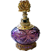 Lavender and Gold tone Perfume Bottle