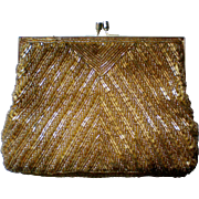 Walborg Gold Beaded Evening Bag