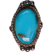 Native American Turquoise Silver Ring