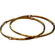 Monet Thin Bangle Bracelets – Set of Two