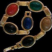Egyptian Style Scarab Link Bracelet