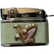 Small Mid-Century Purse or Key Chain Cigarette Lighter