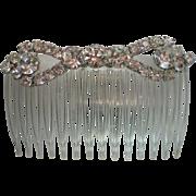 Mid-Century Rhinestone Hair Comb