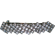 Rhinestone Hair Clip Barrette made in France