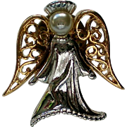 Angel Tie Tack Lapel Pin by Cathedral Art