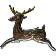 Collectible Hallmark Cards Christmas Reindeer Holiday Pin