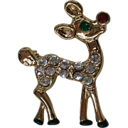 Adorable Rudolph Reindeer Pin for Christmas / Holiday Wear