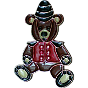 Metal Teddy Bear Christmas Bear Pin for Holidays