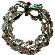 Gerry's Christmas Holiday Wreath Pin