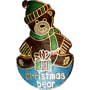 Metal Christmas Bear Pin by Pinnacle Designs