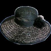 Daniele Meucci Black Wide Brimmed Hat