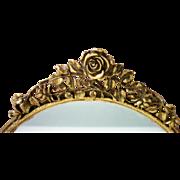 Matson Vanity or Dresser Ormolu Perfume Mirror