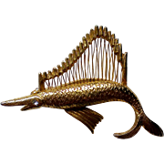 Sailfish Fish Pin with Harp String Sail