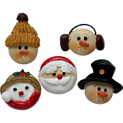 Holiday Winter Button Covers