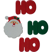 HO HO HO Santa Button Covers