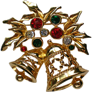 Avon Joyous Bells Christmas Holiday Pin