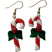 Candy Cane Dangle Earrings for the Holidays