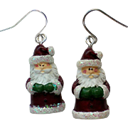 Miniature St. Nicholas Santa Earrings for Christmas Holiday