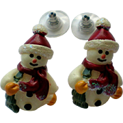 Little Snowmen Pierced Earrings for Winter Holidays