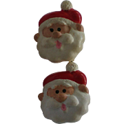 Santa Claus Clip Earrings for the Christmas Holidays
