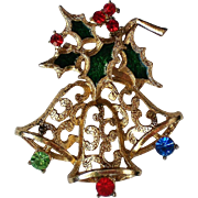 Holiday Christmas Bells Pin from Beatrix