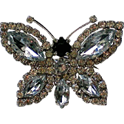 Fabulous Rhinestone Butterfly Pin