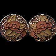 Edgar Berebi Large Disc Pierced Earrings