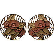 Edgar Berebi Large Disc Pierced Earrings