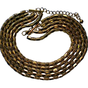 Stunning Five Strand Metal Necklace