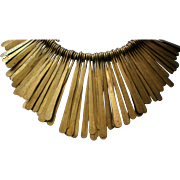African Hand Made Brass and Leather Necklace