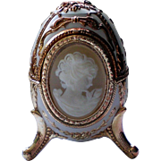 Cameo Egg Musical Jewelry Box