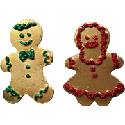 "Gingerbread Boy & Girl ""Cookie"" Pins for the Holiday Season"