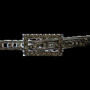 Rhinestone Studded Silver tone Belt with Buckle