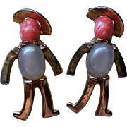 Matching Jelly Belly Figural Man Pins